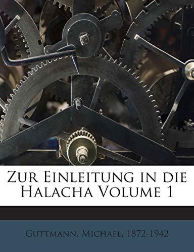 9781245954273: Zur Einleitung in die Halacha Volume 1