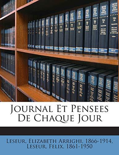 9781245976497: Journal Et Pensees de Chaque Jour