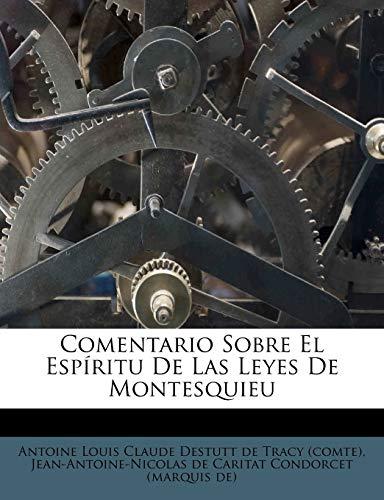 9781246134209: Comentario Sobre El Espíritu De Las Leyes De Montesquieu