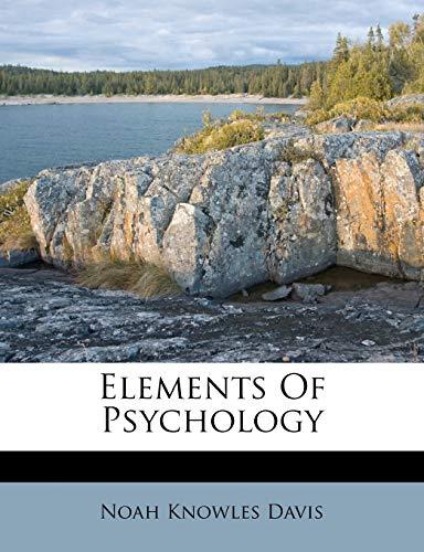 9781246266412: Elements Of Psychology