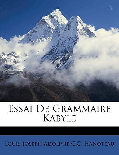 9781246625844: Essai De Grammaire Kabyle (French Edition)