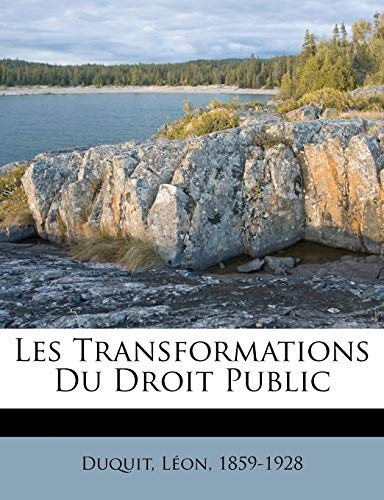 9781246910230: Les Transformations Du Droit Public