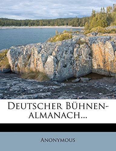 9781248103388: Deutscher Bühnen-almanach... (German Edition)