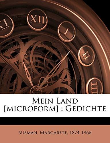9781248121627: Mein Land [Microform]: Gedichte