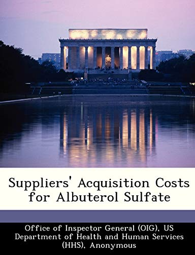 Suppliers' Acquisition Costs for Albuterol Sulfate: Brown, June Gibbs;