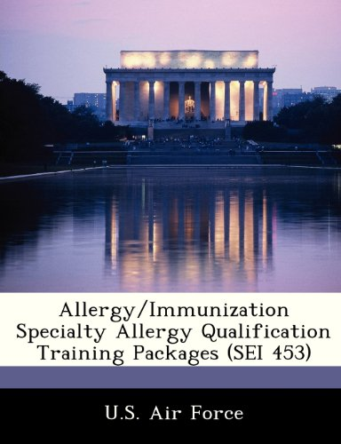 9781249195993: Allergy/Immunization Specialty Allergy Qualification Training Packages (SEI 453)