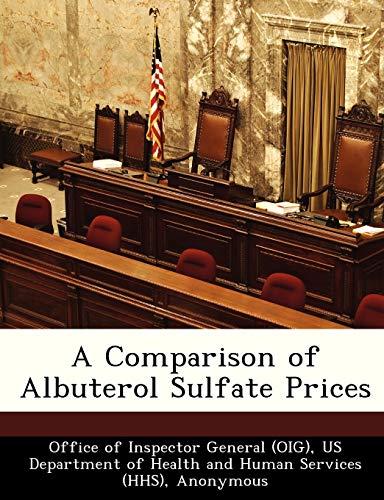 A Comparison of Albuterol Sulfate Prices: Brown, June Gibbs;