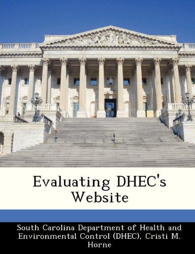9781249413745: Evaluating DHEC's Website