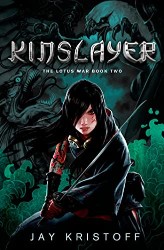 Cover of the book, Kinslayer (The Lotus Wars, #2).