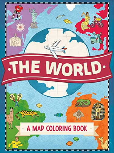 9781250114389: The World: A Map Coloring Book