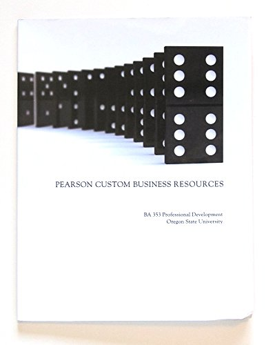 9781256040613: Pearson Custom Business Resources Ba353 Professional Development Oregon State University