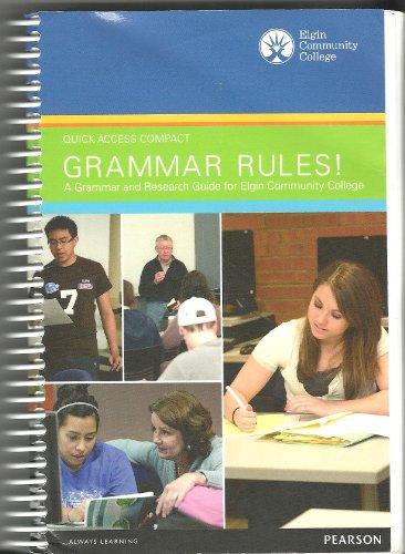 9781256065593: Grammar Rules! Quick Access Compact Custom ECC Edition