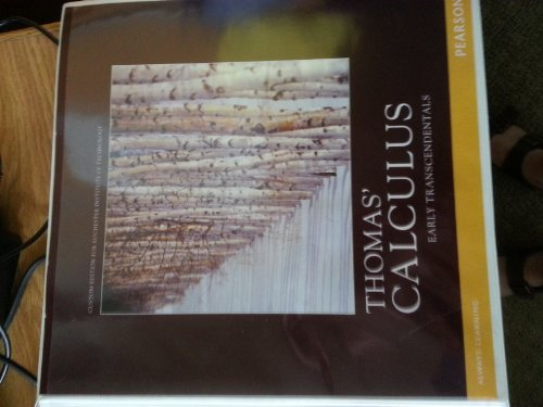 9781256082026: Thomas Calculus Early Transcendentals 12th Edition (Thomas Calculus Early Transcendentals)