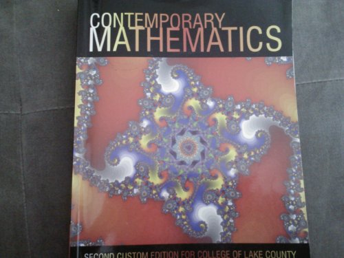 9781256082330: Contemporary Mathematics (Second Custom Edition for College of Lake County)