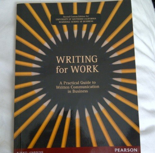 9781256083030: Writing for Work - A Practical Guide to Written Communication in Business