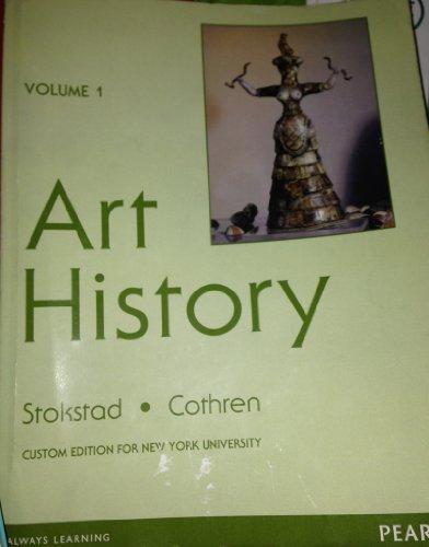 9781256083122: ART HISTORY VOLUME 1 CUSTOM EDITION FOR NEW YORK UNIVERSTY (VOLUME 1)