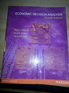 9781256085997: Economic Decision Analysis