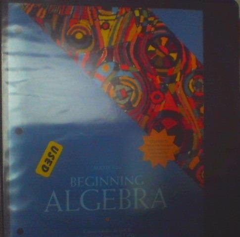 9781256104292: Beginning Algebra for Harrisburg Area Community Colege