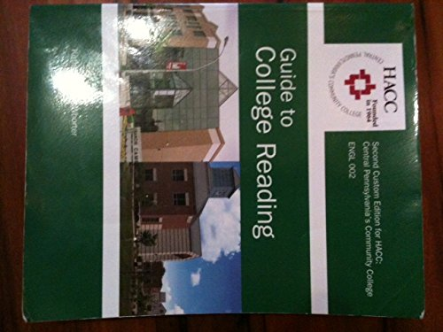 9781256106395: Guide to Collage Reading Second Custom Edition For Hacc: central Pennsylvania's Community Collage ENGL 002