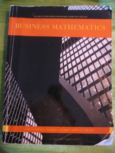 9781256107729: Business Mathematics~second custom edition fro Monroe Community College New York