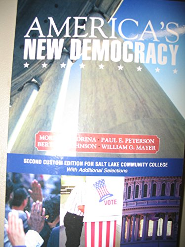 9781256118923: America's New Democracy Second Custom Edition for Salt Lake Community College