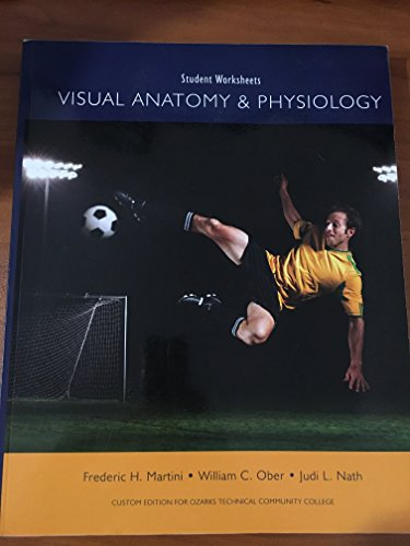 9781256131175: Student Worksheets: Visual Anatomy and Physiology