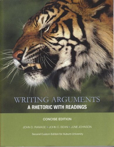 9781256142096: Writing Arguments : A Rhetoric with Readings The Concise Edition for Auburn Univ.