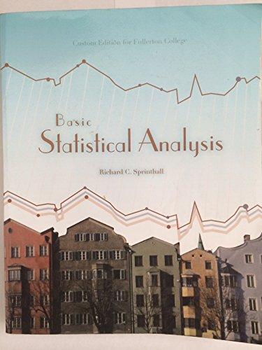 9781256147336: Basic Statistical Analysis