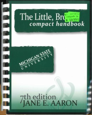 9781256154006: The Little, Brown Compact Handbook By Jane E. Aaron (7th Edition, Michigan State University)