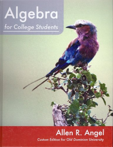 9781256158646: Algebra for College Students, Custom Edition for Old Dominion University