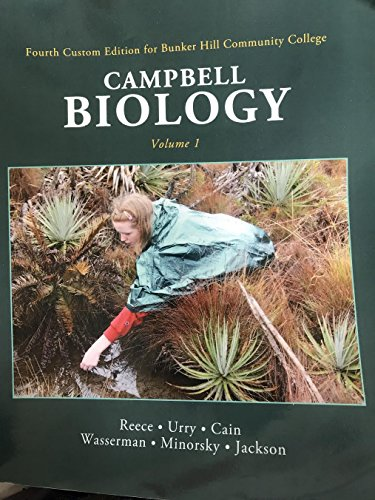 9781256159193: BHCC Second Custom Edition Bunker Hill Community College Campbell Biology VOLUME 1