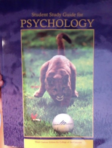 9781256164128: Student Study Guide for Psychology (THIRD CUSTOM EDITION FOR COLLEGE OF THE CANYONS)