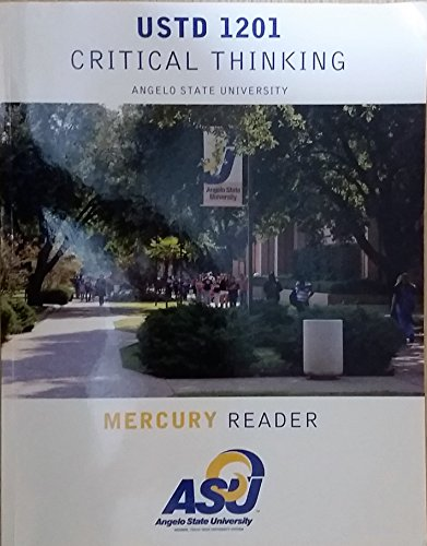 9781256174943: Pearson Custom Library English Mercury Reader: USTD 1201 Critical Thinking Angelo State University