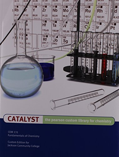 9781256183686: Catalyst The Pearson Custom Library for Chemistry Fitchburg State University