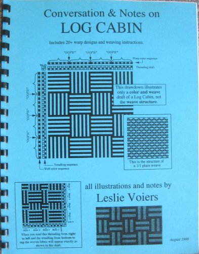 9781256196471: Conversation & Notes on Log Cabin ; Includes a 20+ warp desgns and weaving instructions.