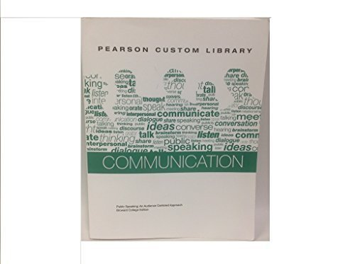 Pearson Communication- Public Speaking (Broward College Edition) w/ NEW MyCommunicationLab ...