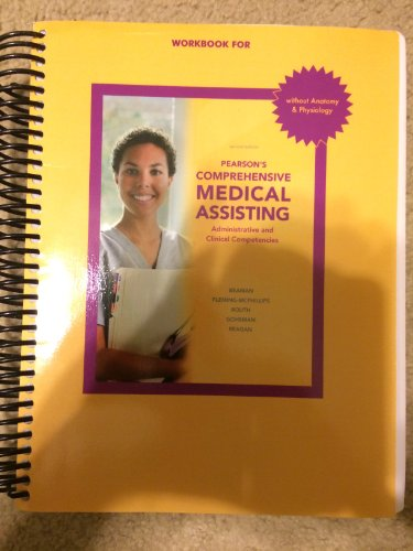 9781256263210: Pearson's Comprehensive Medical Assisting Workbook