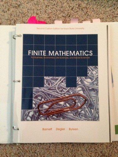 Finite Mathematics: Raymond A Barnett,
