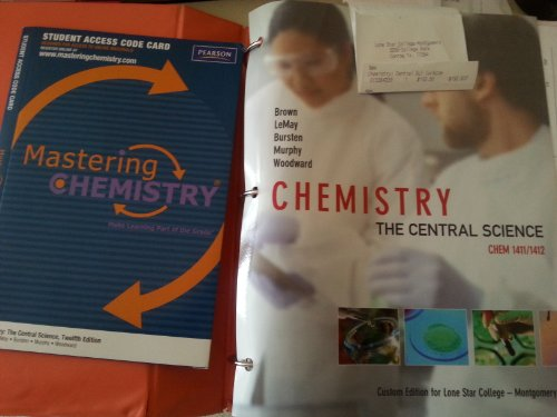 9781256275244: Chemistry the Central Science Lsc-montgomerey w/access coade unopened By Brown, Bursten, Lemay, Woodward