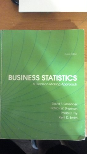 9781256277507: Business Statistics: A Decision Making Approach BUS304