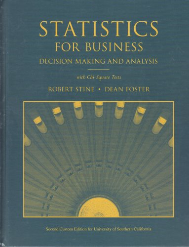 9781256285915: Statistics for Business (Decision Making for Business) USC