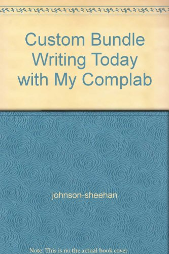 Custom Bundle Writing Today with My Complab: n/a