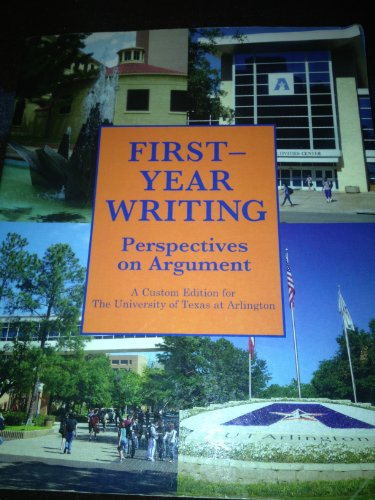 9781256288800: First Year Writing Perspectives on Argument