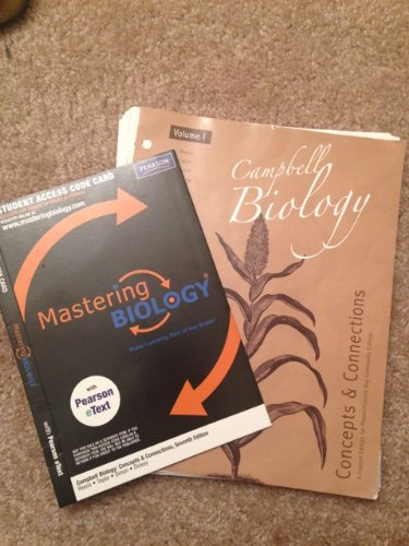 9781256292425: Campbell Biology: Concept and Connections Volume 1 (Custom Edition for Community College) and Mastering Biology Access Code Card with eText