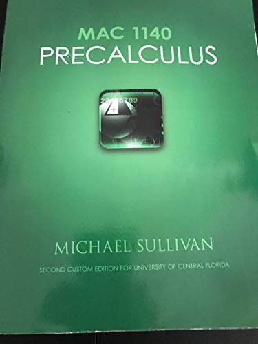 9781256293552: MAC 1140 Precalculus