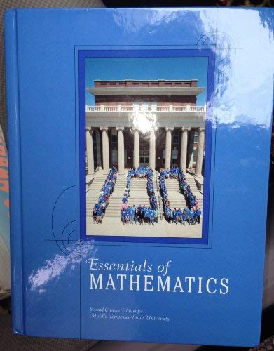 9781256299684: Essential of Mathematics: Second Custom Edition for Middle Tennessee State University (second)