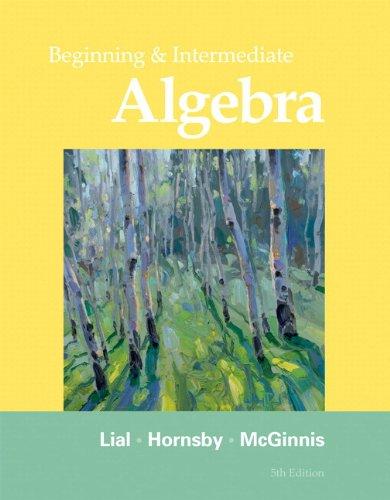 9781256300267: Beginning Algebra:My WorkBook Third Custom Edition for Ventura College (11th Edition)