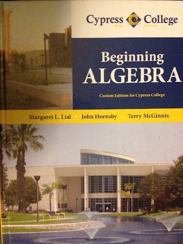 9781256302650: Beginning Algebra Custom Edition for Cypress College