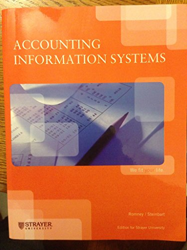 9781256309840: Accounting Information Systems (Edition for Strayer University)