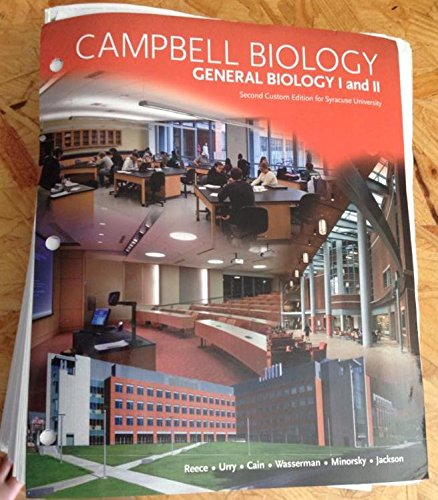 9781256310556: Campbell Biology - General Biology I and II - Custom Edition for Syracuse University